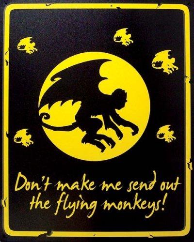 Sign Flying Tin (Penny Lane Flying Monkeys Metal Tin Sign: Don't Make Me Send Out the Flying Monkeys)