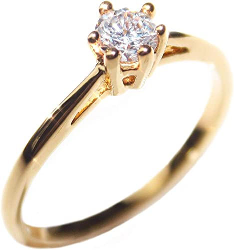 Free Engraving Ah Jewellery 0 62ct Ladies Genuine Gold Filled 4mm Simulated Diamond Solitaire Ring Uk Guarantee 3µ 10 Years Outstanding Quality Amazon Co Uk Jewellery