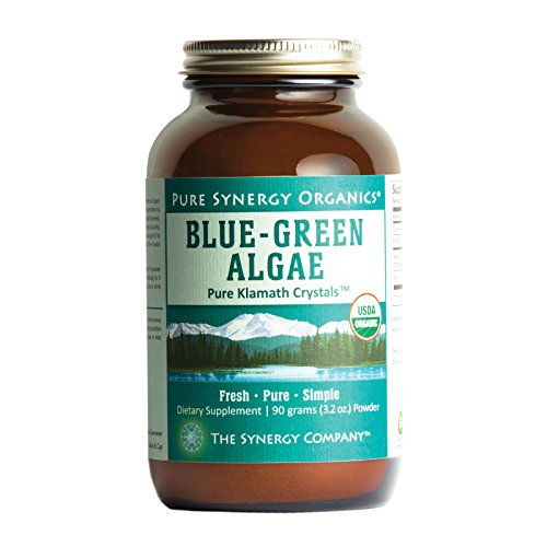 Pure Synergy USDA Organic Klamath Blue Green Algae Powder (3.2 oz) Fully Tested, Non-GMO Klamath Blue Green