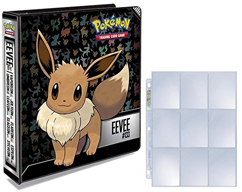 (Ultra Pro Pokemon Eevee 3-Ring Binder 25 Platinum 9-Pocket Pages)