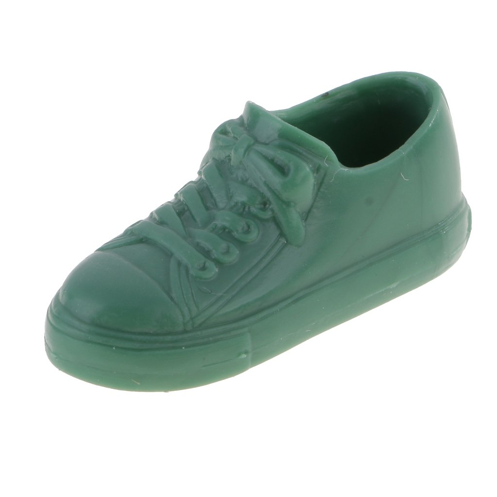 5ff06848e41fa MagiDeal 1/6 Scale Trendy Sneakers Sports Flats For 12'' Takara Neo Blythe  Dolls Shoes Green