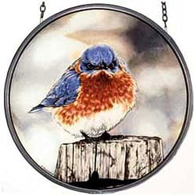 MI Hummel/Glassmasters 6-1/2-Inch Mad Bluebird Stained Glass Suncatcher: Home & Kitchen