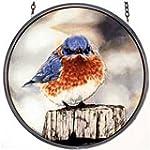 MI Hummel Glassmasters 6 1 2 Inch Mad Bluebird Stained Glass Suncatcher