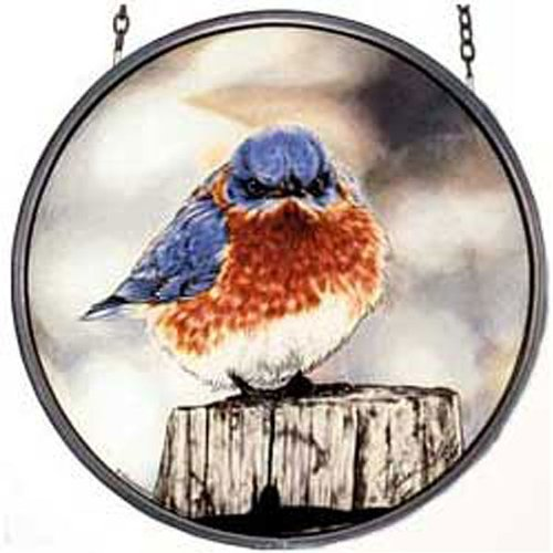 (MI Hummel/Glassmasters 6-1/2-Inch Mad Bluebird Stained Glass Suncatcher)