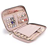 BAGSMART Travel Jewellery Organiser Case Portable Jewelry Bag for Rings, Necklaces, Bracelets, Earrings