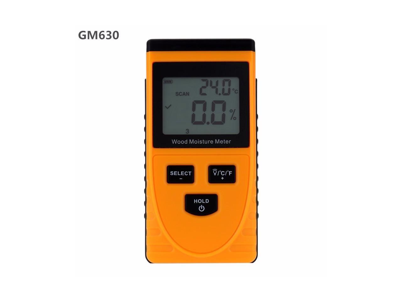 Tekit Professional Digital Wood Moisture Meter Temperature Humidity Tester Induction Moisture Tester LCD Display Hygrometer GM630