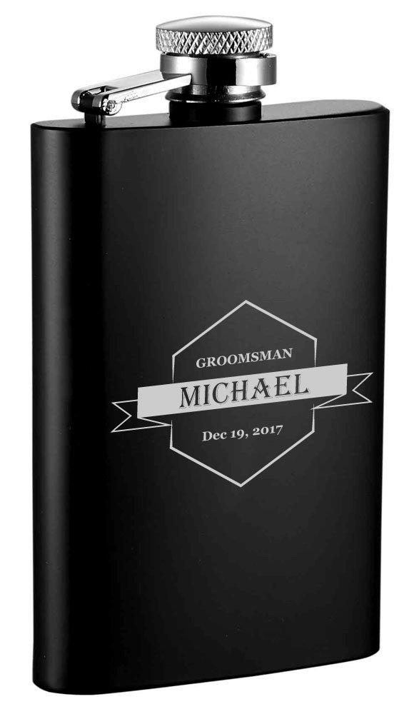 新しい到着 Personalized B074R3R6WG Groomsmen Groomsmen Personalized Visol MiniブラックマットステンレススチールLiquorフラスコ B074R3R6WG, Lily Shop:83d36f21 --- a0267596.xsph.ru