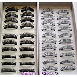 20 Pairs Regular Long and Thick Eyelashes Style 1 and 2 by DPNY