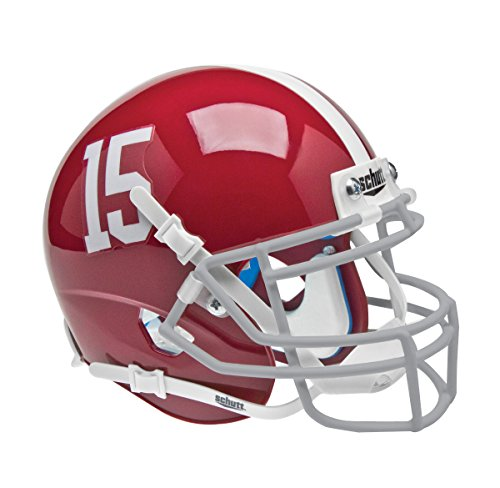 NCAA Alabama Crimson Tide Numbers 11 on Sides Replica Helmet, One Size by Schutt