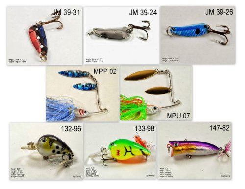 Akuna [MS] Pros' pick recommendation collection of lures for Bass, Panfish, Trout, Pike and Walleye fishing in Mississippi(Pan Fish - Pro Mississippi Bass