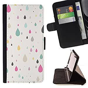 For Sony Xperia Z1 L39 Case , Otoño Rosa minimalista trullo Pretty- la tarjeta de Crédito Slots PU Funda de cuero Monedero caso cubierta de piel