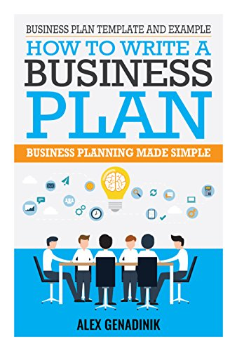 amazon com business plan template and example how to write a