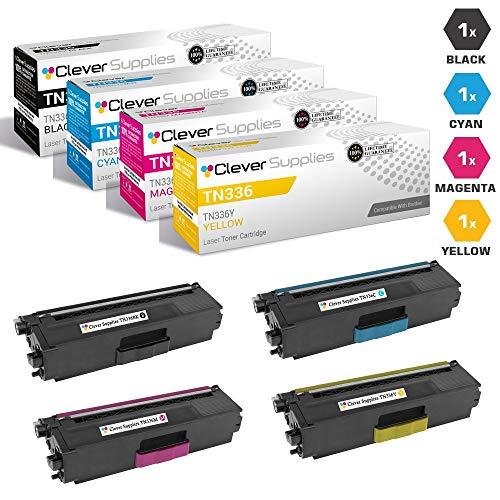 CS Compatible Toner Cartridge Replacement Brother TN336 TN-336 TN336BK TN336C TN336M TN336Y HL-L8350 L8250 L8250CDN L8350CDWT L8350CDW MFC-L8600 L8850 L8600CDW L8850CDW 4 Color Set