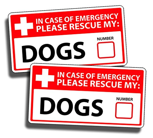 DOG Emergency Pet Rescue Decal Sticker Lab Labrador for sale  Delivered anywhere in USA