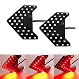 iJDMTOY Sequential Flashing 33-SMD Side Mirror <<< LED Turn Signal Arrows, Brilliant Red