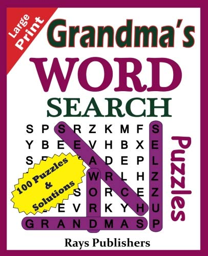 Grandma's Word Search Puzzles (Suitable for hours of brain exercise.) (Volume 1) ()