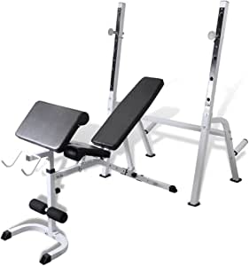 Daonanba Adjustable Fitness Workout Bench Sturdy Steel