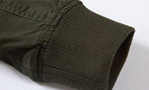 B8203 Leggero Da Giacca Slim Fit Cotone Uomo Casual Szyysd army Green In Militare 1Yq5vw66x