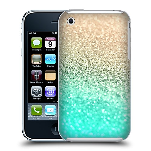 3g Glitter (Official Monika Strigel Aqua Gold & Glitter Collection Hard Back Case for Apple iPhone 3G / 3GS)
