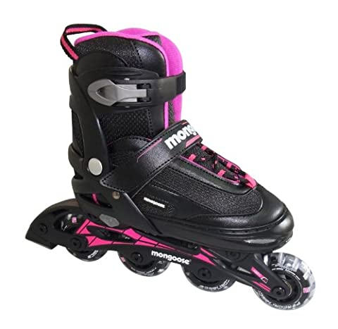 Mongoose Girl's Inline Skates, Large - Mongoose Comfort Bike