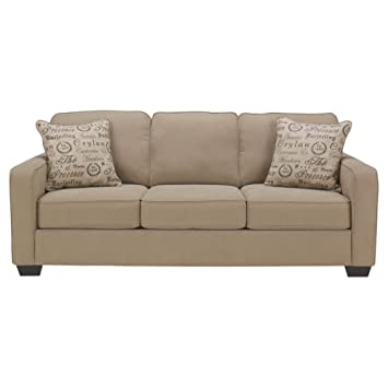 Ashley Furniture Signature Design   Alenya Sleeper Sofa With 2 Throw  Pillows   Queen Size