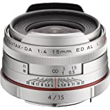 PENTAX Limited lens super wide-angle single focus lens HD PENTAX-DA15mmF4ED AL Limited Silver K mount APS-C size 21480