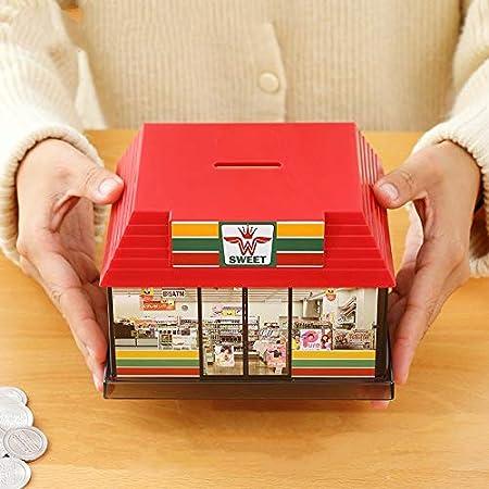westtreg Conveniente Casa Caja de Dinero Ahorro Piggy Bank Niños Juguete Plástico Banco Creativo Caja Secreta Segura Accesorios de decoración del hogar AP1079, Amarillo: Amazon.es: Hogar