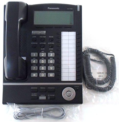 Panasonic KX-T7636-B 24-Button 6-Line Backlit LCD Display Speakerphone - Black (Free Navigator Hands Headset)