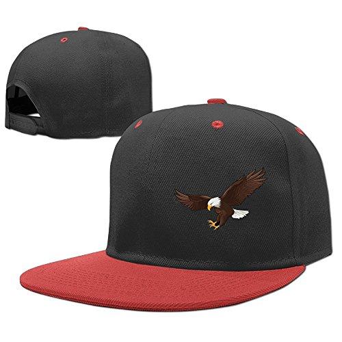 Eagle One Flat (Kid's US Bald Eagles Swooping Unisex Flat Brim Baseball Hats 100% Cotton Adjustable Hip Hop Caps For Children Youth Boys Girls)