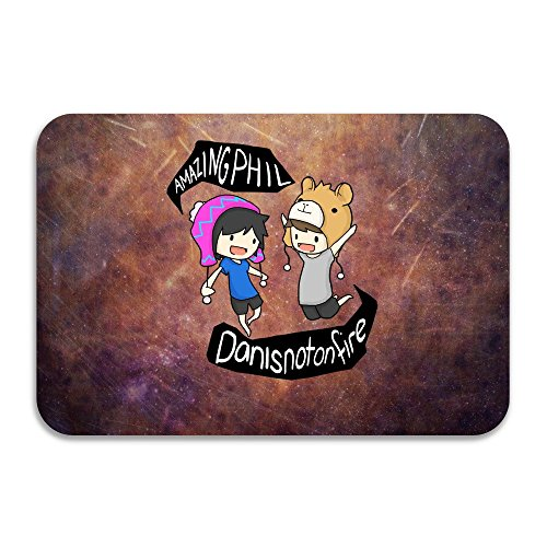 SARHT Dan And Phil Animated Design Non-slip Doormat (Synonym For Merchandise)