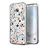 Alsoar Funda Samsung Galaxy S8 Case Ultrafino diseño de Dibujos Lindo TPU Parachoques Anti-Arañazos Anti-Huella Dactilar a Prueba de Choque Case Protectora para Jugando al fútbol Perro (Pétalo)