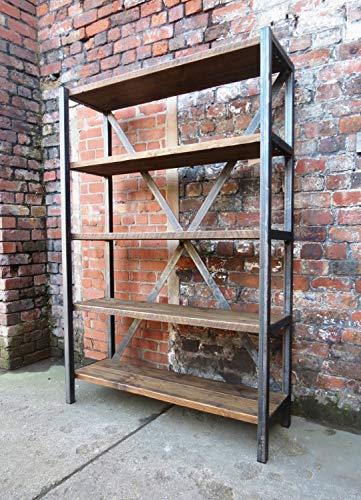 Librero de 4 niveles de estilo industrial vintage. Ensamblado con PTR de una pulgada y madera de pino de primer calidad...