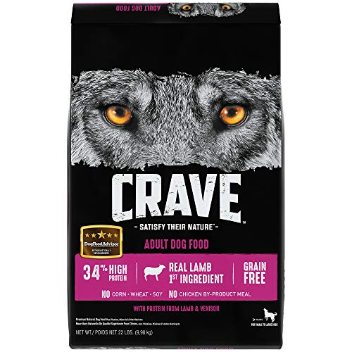 Crave Grain Free With Protein From Lamb And Venison Dry Adult Dog Food, 22 Pound Bag