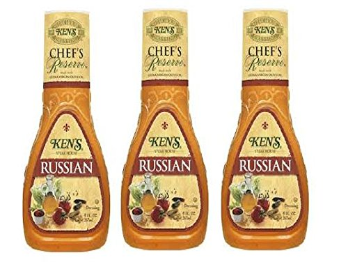 Russian Dressing - Ken's Steak House Chef's Reserve Russian Dressing (Pack of 3) 9 oz Bottles