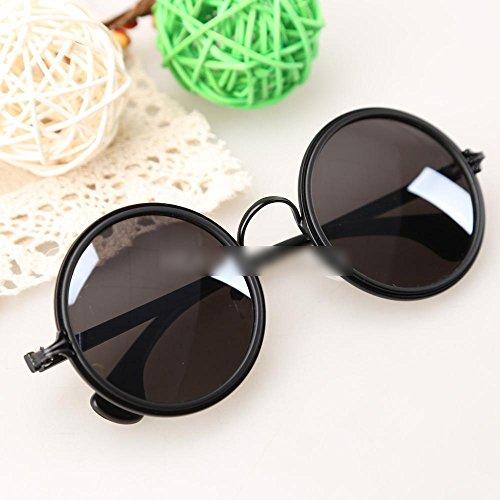 new Stylish Retro Round Circular Sunglasses Decor for Women Girls Black