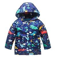 Kids Lightweight Jackets for Girls Boys Hooded Windbreaker Rain Coat with Mesh Liner