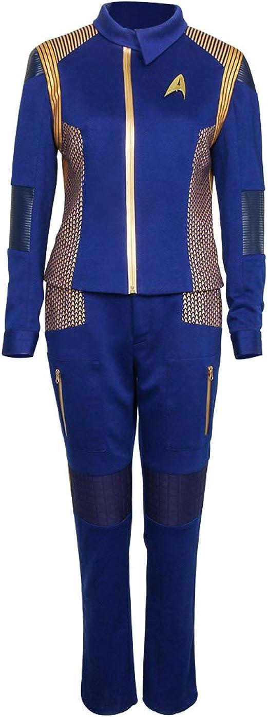 Star Trek Discovery Captain Lorca Uniform Cosplay Costume Blue Mens Command Suit