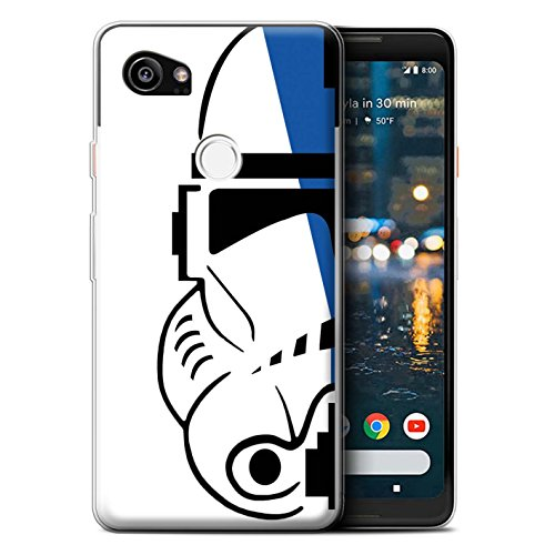STUFF4 Gel TPU Phone Case/Cover for Google Pixel 2 XL / 501st Legion Design/Assault Trooper Helmet Collection ()