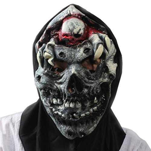 Gotd Latex Creepy Scary Halloween Toothy Zombie Ghost Mask Scary Skin (#16)]()