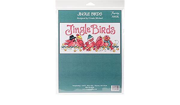 """M /& R Technologies Jingle Birds Counted Cross Stitch Kit-7/""""X13.5/"""" 14 Count"""