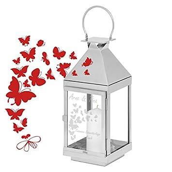 Geschenke 24 Hochzeitslaterne Landhaus Mit Gravur Personalisierte