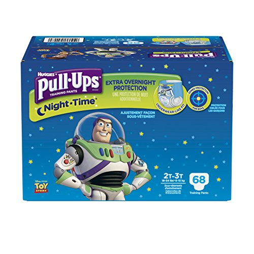 Pull-Ups Night-Time Potty Training Pants for Boys, 2T-3T (18-34 lb.), 68 Ct., Pack of 2 (Packaging May Vary)