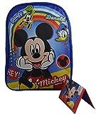 """Disney - Mickey Mouse Kid's 15"""" School Backpack Travel Bag w/ Bonus Wallet"""