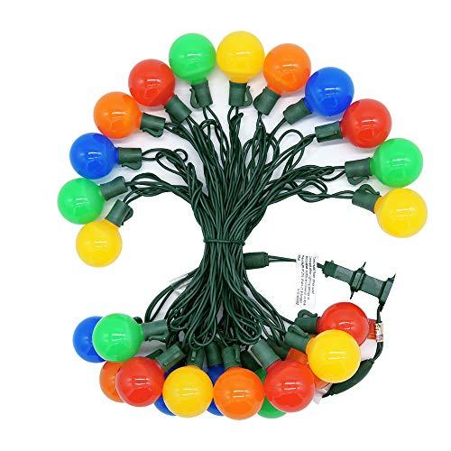 Uzexon Heavy Duty Commercial G40 Globe Led String Lights,17Ft 25 LED Outdoor Colored Christmas Lights,Patio Garden Seasonal Festive Light,Home Decor Party Wedding Mood Lighting from Uzexon