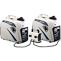 2-Pack Pulsar 2000 Watt Portable Inverter Generator Combo with Parallell Kit GN200KT
