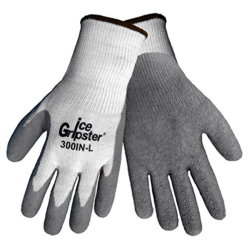 300 Ice (Global Glove 300IN Ice Gripster Insulated Acrylic Flat Dipped Glove, Work, Large (Case of 72))