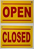 1-Pc Immaculate Popular Open and Close Signs Plastic Coroplast Washable Size 12