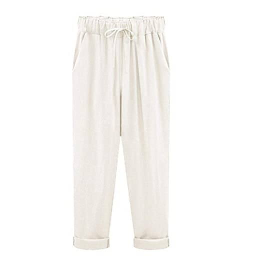 d28eadebd0a7 Image Unavailable. Image not available for. Color  UOFOCO Plus Size Linen  Pants for Women Summer ...