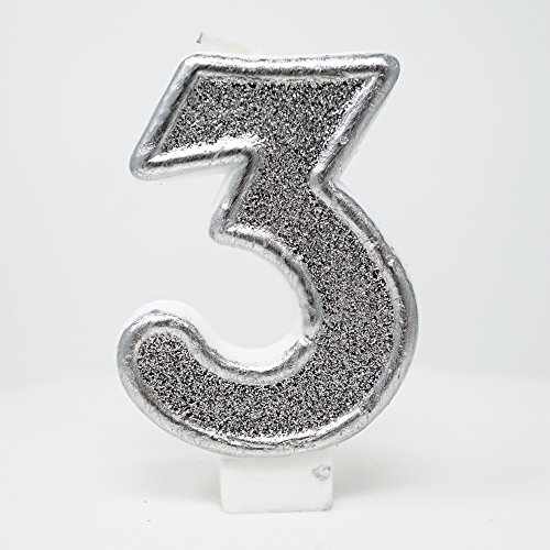 number 3 candle for cakes - 9