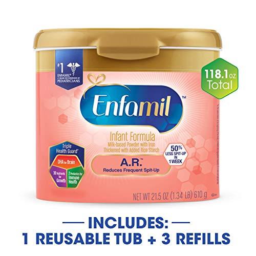 Enfamil A.R. Spit Up Baby Formula Gentle Milk Powder, 118.1 ounce - Omega 3 DHA, Probiotics, Immune & Brain Support